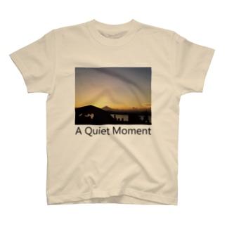 夕焼けどきの富士山 Tシャツ T-shirts