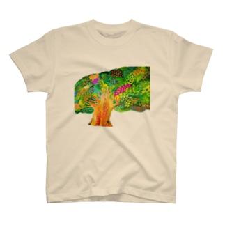 生命宿るりんごの木 T-shirts