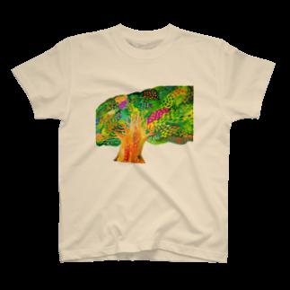 savaの生命宿るりんごの木 T-shirts