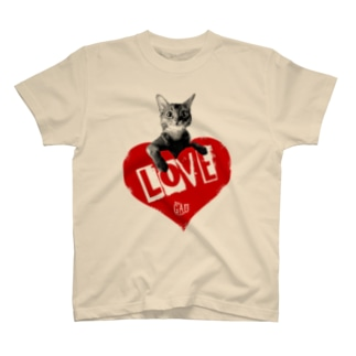 Nobigaoラブキャット T-shirts