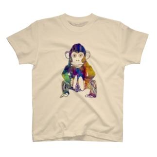 おさるのシンバル T-shirts