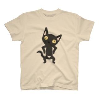 白いおパンツなクロニャンコ T-shirts