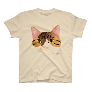 もずく秘書のフェイス T-shirts
