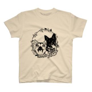 ちょびくま(切り絵) T-shirts