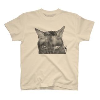 般ニャ -反転・抜き- T-shirts