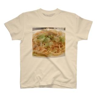 醤油ごま油キャベツスパゲッティ🍝 Ongakus photo goods T-shirts
