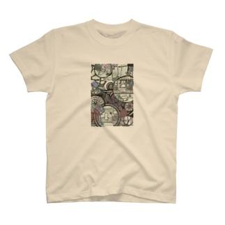 和柄ねこ T-Shirt