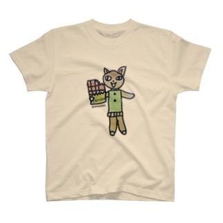 NAGOMIのねこ(ベージュ) T-shirts