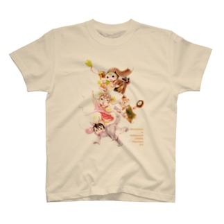 きぐるみ村の動物たち T-shirts