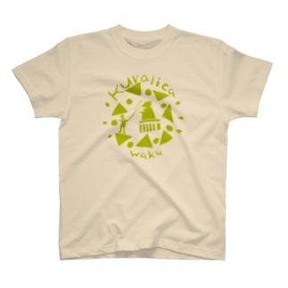 WAKUWAKUサーカス/グリーン T-shirts