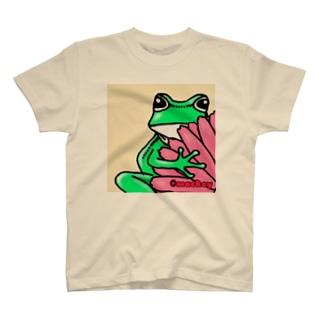 名刺のかえる・黒 T-shirts