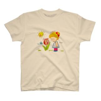 チューリップさんがしゃべってる!? T-shirts