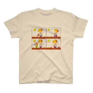 LittleAmi(リトルアミ)のチューリップさんがしゃべってる!? T-shirts