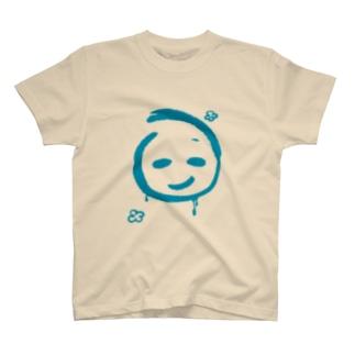 青いスマイルマーク T-shirts