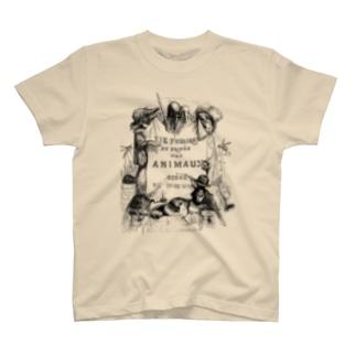 グランヴィル「動物たちの私生活・公生活」扉絵 <アンティーク・プリント> T-shirts