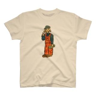 ミニスケボー持ってる人 T-shirts