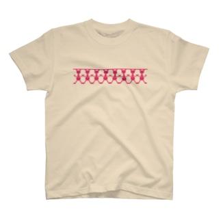 ウサギ の切り紙 T-shirts