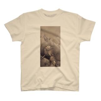 狩野 芳崖 《獅子図》 T-Shirt