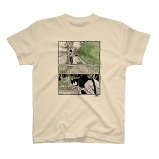 ハチワレの猫 T-shirts