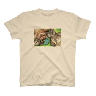 ハミングピッピのみんなでごろん。 T-shirts