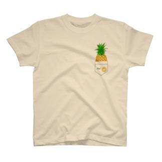 I love パイナップル ワンポイントTシャツ T-Shirt