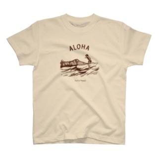 アロハ(茶) T-shirts