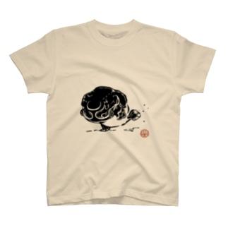 びっちょん金魚(黒) T-shirts