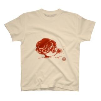 びっちょん金魚(赤) T-shirts