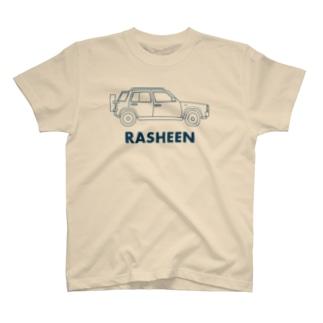 英語でラシーン(ネイビー) T-shirts