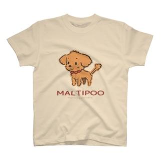 スーパーわんわんズのマルプー(APRICOT) T-shirts
