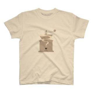 コーヒー香るTシャツ 【コーヒーミルシルエット】 T-Shirt