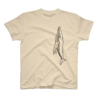 クジラ(黒) T-Shirt