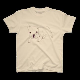NIKORASU GOのフレンチブル T-shirts