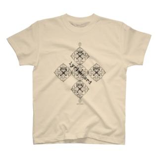 lyricchordシード黒ライン/ドローイングアート Tシャツ