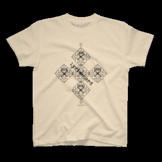 ERIKOERIN ART SHOPのlyricchordシード黒ライン/ドローイングアート Tシャツ