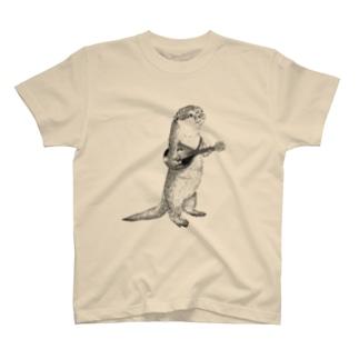 マンドリンを弾くカワウソ(大) T-shirts