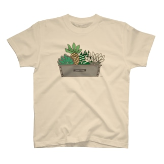多肉植物たにくさん(パウンドケーキ型に集合) T-shirts