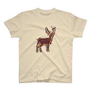 炎のシカさん T-shirts
