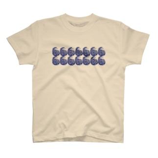 振り返りhedgehog青 T-shirts