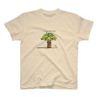 りんごが欲しいねこ T-shirts