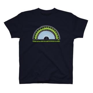 カラー分度器(ネイビー向き) Tシャツ
