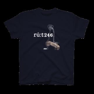 国道15と7/10号線にて Tシャツ