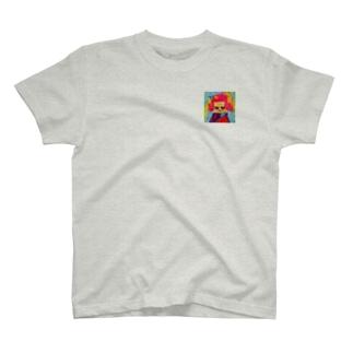 にらめっこのおんなのこ。 Tシャツ