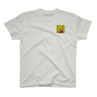 様子をうかがうおんなのこ。 Tシャツ