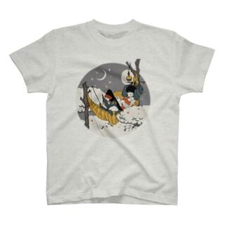 月夜の太公望 Tシャツ