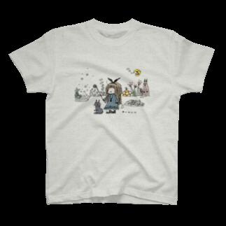 ほっかむねこ屋@ 11/10 11 デザインフェスタ@東京ビッグサイト J68の呪文を忘れた魔法使い Tシャツ