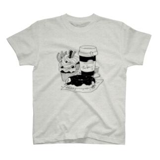tanka/スイーツとオオサンショウウオ Tシャツ