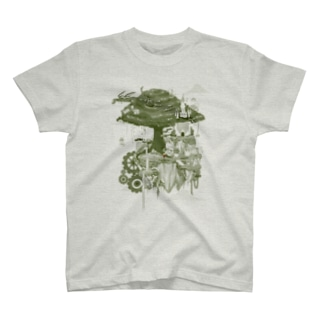 ヌートンドット絵(モノクロ) Tシャツ