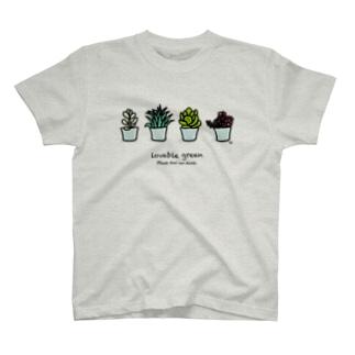 多肉植物 Tシャツ