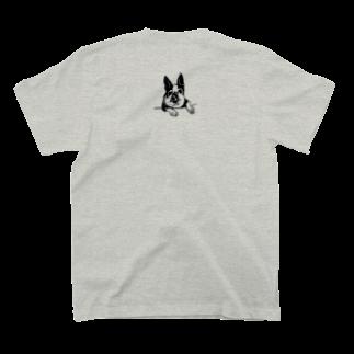 れみしま🐕のPocket RIN -back print- T-shirts
